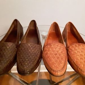 Cole haan woven loafers